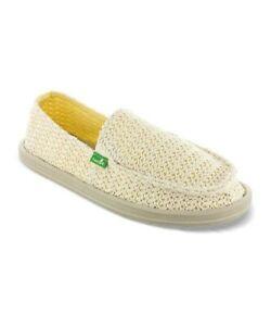 Sanuk Flutter Women's Sidewalk Surfer Shoes Natural Size 7