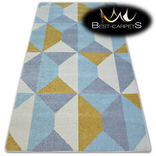 """AMAZING THICK MODERN SOFT RUGS """"NORDIC"""" yellow novelty floor carpet small large"""