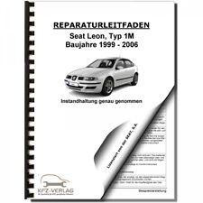 SEAT Leon Typ 1M 1999-2006 Instandhaltung Inspektion Wartung Reparaturleitfaden