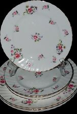 VTG ROYAL ADDERLEY FRAGRANCE BONE CHINA LOT 4 SALAD  PLATES ROSE PARAGON ENGLAND