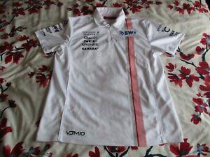 Sahara Force India F1 Team 1/4 Zip Pit Lane Polo Shirt medium