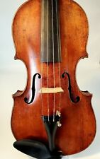 OLD ANTIQUE VIOLIN , FULL 4/4 SIZE, AMATUS LABEL, NEW OBLONG CASE