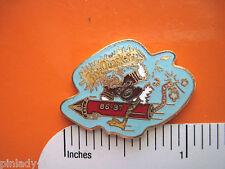 ELMO Fire Quacker cartoon duck - hat pin, lapel pin, tie tac , hatpin GIFT BOXD