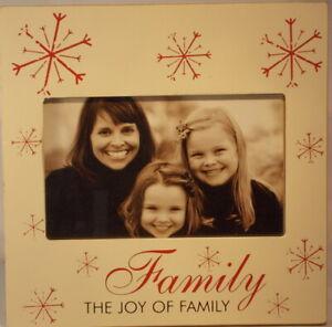 Family snowflake MDF 4 inch x 6 inch Photo Frame