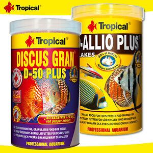 Tropical 1000 ML D-Allio Plus Flakes + Discus Gran D-50 Plus Granulate