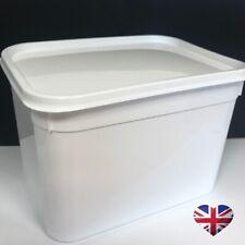 60 x WHITE 4 LITRE FOOD CONTAINERS FREEZER BULK TUB STORAGE LIDS