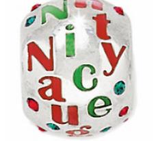 NEW Brighton Naughty & Nice Green Red Christmas Spacer Bead Charm J97172