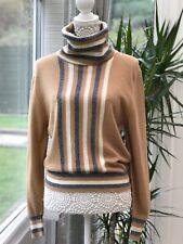 Vintage Jaeger Wool jumper Sweater M 10 12 Camel Colour