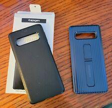 Galaxy S10, S10 Plus, S10e Spigen®[Liquid Air] Black Protective Slim Case lot