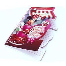 Disney Minnie Mouse Afternoon Tea 3D A5 STRIPE NOTEBOOK