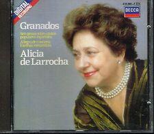 CD album: Granados: Alicia de Larrocha. decca. C1.