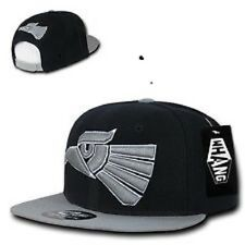 Black & Gray Mexican Hecho En Mexico Eagle Aguila Embroidered Snapback Hat Cap