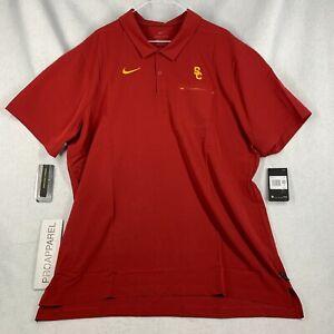 Nike USC Trojans On Field Mens Polo Shirt Size XXL (2XL) AR8898-613 NWT