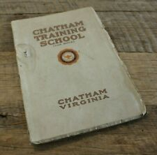 Antique Chatham Training Military School For Boys Catalogue Book Application