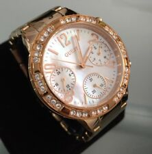 Ladies Guess Mini Glam Hype Watch Genuine Designer W0546L3 Rose Gold Mop Day Dat