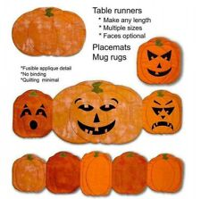 Fun Applique Placemat Table Runner Pattern PUMPKINS 4 Projects