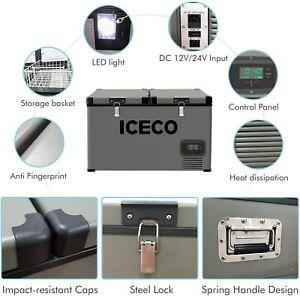 ⛄45/65/74 Liter Quarts Portable Refrigerator Compressor Freezer Electric Cooler