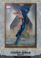 Mystique Jennifer Lawrence Pin-Up Sexy Cover Girls A3 Signed Marvel Comic Print
