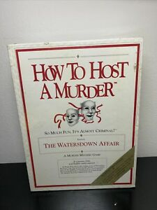 Vintage-How To Host A Murder game-The Watersdown Affair-1985, 1986-sealed!!