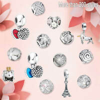 Silver Charms Fit European Beads 925 Fashion Cute Jewelry Lots Chain Bracelet
