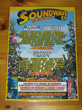 SOUNDWAVE 2015  Australian Tour - SOUNDGARDEN ETC Laminated Promo Poster