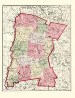 Sullivan County New Hampshire - Walling 1877 - 23.00 x 30.34