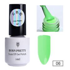 BORN PRETTY UV Gel Nail Polish Soak off Candy Color Gel Varnish Black White Nude