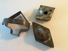 """VINTAGE TIN HANDMADE SET OF COOKIE CUTTERS~1 SPADE, 2 DIAMONDS 3.5 to 4.5"""""""