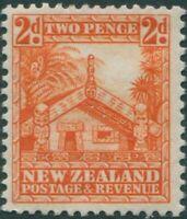 New Zealand 1935 SG559 2d orange Maori Carved House MNH
