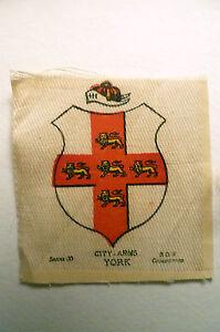 B.D.V. Cigarettes Silk,Series 30- CITY ARMS YORK Original Printed Silk