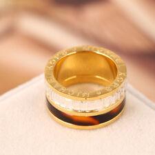 Michael Kors Gold Resin Tortoise Print Crystal Ring Size 6