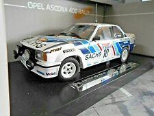 OPEL Ascona B 400 Gr.4 Rallye DRM Hunsrück 1980 #10 Hainbach Sachs Sunstar 1:18
