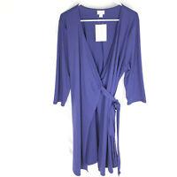 NEW Lularoe Michelle Wrap Dress Size 2XL Solid Blue NWT