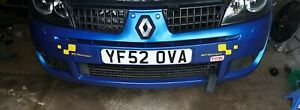 Clio 172 182 Sticker Stick On Reflective Number Plate