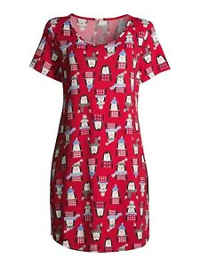 Secret Treasures Women's Short Sleeve Penguin Sleepshirt L/XL NWT
