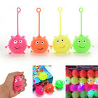 Light Up Balls Smiley Face Ball Spiky Bouncing Ball Soft Rubber Birthday Gift HU