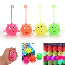 Light Up Balls  Face Ball Spiky Bouncing Ball Soft Rubber Birthday Gift SP