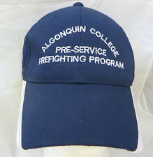 Algonquin College Firefighting program baseball cap hat adjustable v