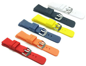 Quality Silicone Watch Strap Band, 20mm,22mm & 24mm Comes in Black, Red & More