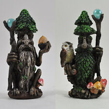 Tree Ent Pair with Magic Staffs Fantasy Garden Outdoor Sculptures Myth 39682