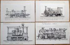 Locomotive/Railroad 1912 Original Art: 32 Hand-Drawn EXCEPTIONAL Sketches-Trains