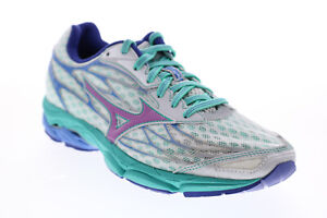 Mizuno Wave Catalyst R639B10 Womens White Mesh Lace Up Athletic Running Shoes 8