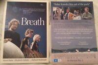 Promotional Movie Flyer Tim Winton Breath Simon Baker, E Debecki *NOT A DVD