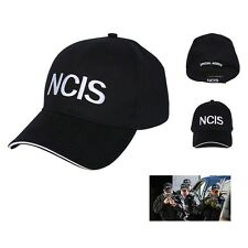 NCIS Embroidered Sandwich Peak Baseball Cap - Retro Crime Police Cap Hat Black