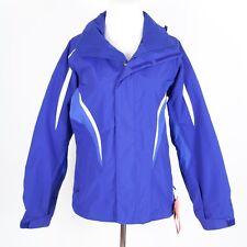 NEW The North Face HyVent Purple Hooded Rain Coat Shell Jacket Women's Small
