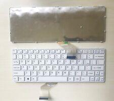 New Sony VAIO SVE11135CXW SVE11125CXW SVE11135CXB Keyboard US white