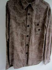 Camicie casual e maglie da uomo marrone con colletto regolare