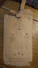 Antique NEW YORK STYLES PATTERN #1179 Sz 14, Dress 1930's