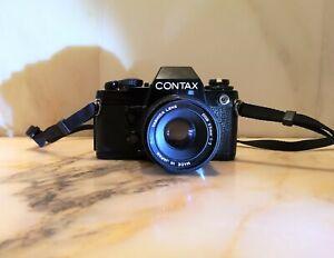 CONTAX  139 quartz  film camera +yashica 2/55 lens EXC++