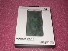 Que Design QUE-5000 Dual 2.4A USB Port 5000mAh Power Bank AC-DC input Peacock